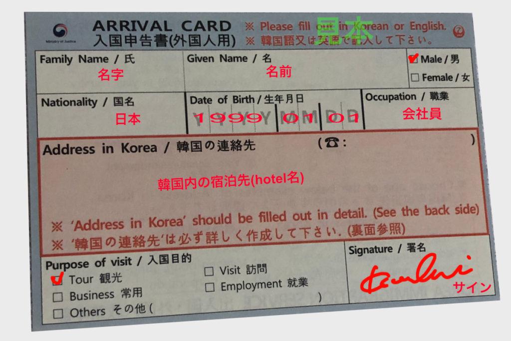 arrivl card